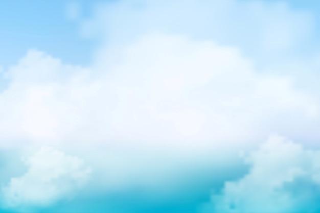 Schöner blauer und weißer texturhintergrund des natürlichen himmels