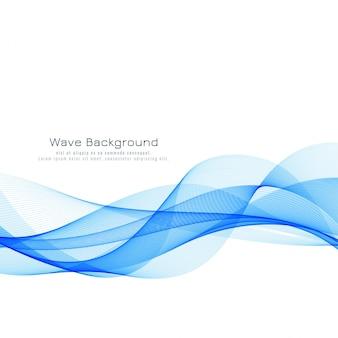 Schöner blauer wellenhintergrund