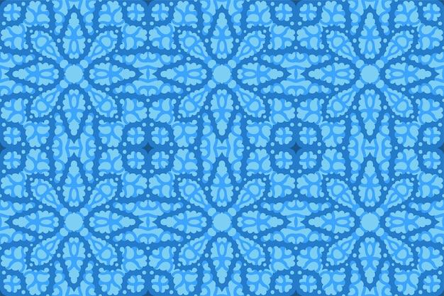 Schöner blauer winterhintergrund mit eisigem abstraktem nahtlosem muster