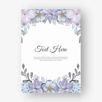 Schöner blumenrahmen mit farbe lila lila