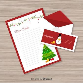 Schöner brief und umschlag für weihnachten
