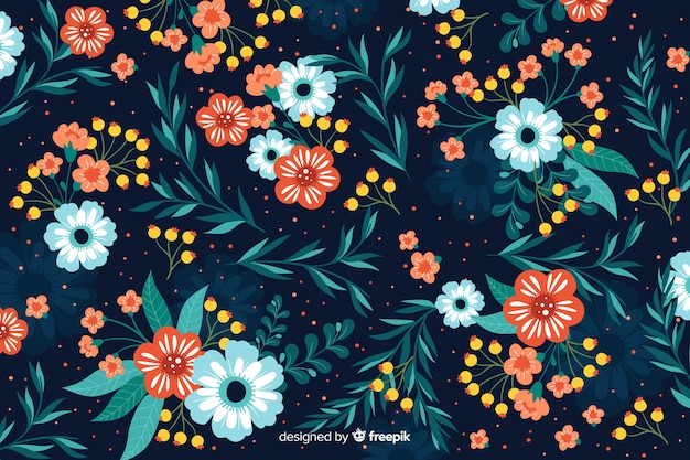 Schöner bunter dekorativer blumenhintergrund