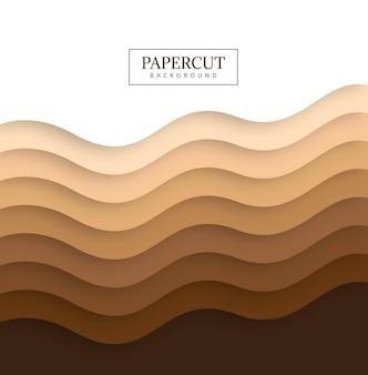 Schöner bunter wellenhintergrund papercut