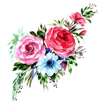 Schöner dekorativer bunter blumenbündelhintergrund