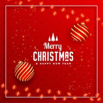 Schöner dekorativer festivalgruß der frohen weihnachten
