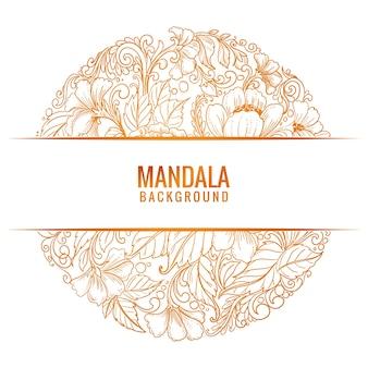 Schöner dekorativer mandala-hintergrund