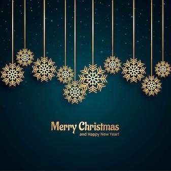 Schöner dekorativer schneeflockenhintergrund der frohen weihnachten