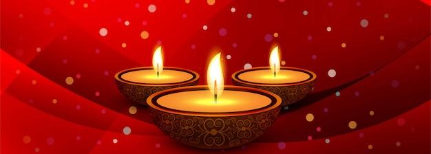 Schöner diwali diya öllampenfestival-titelhintergrund