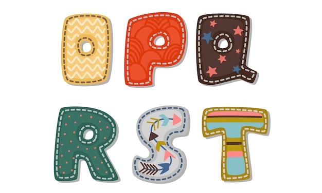 Schöner druck auf fetten font-alphabeten für kinder teil 3
