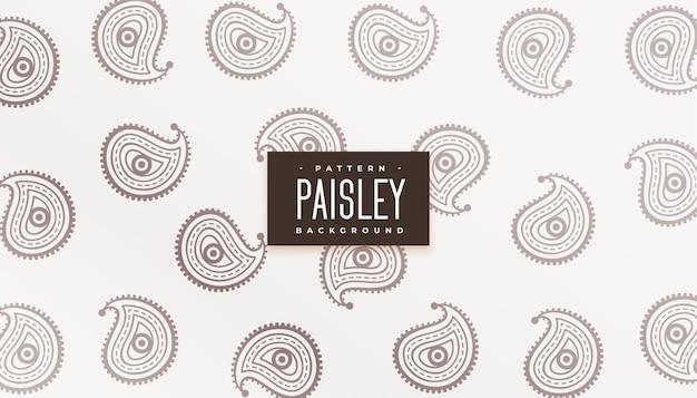 Schöner ethnischer paisley-muster-textur-hintergrund
