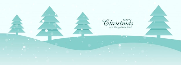 Schöner fahnenschablonen-designvektor der frohen weihnachten