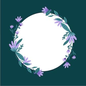 Schöner floraler facebook-rahmen