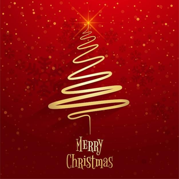 Schöner fröhlicher weihnachtsbaumfeier-hintergrundvektor