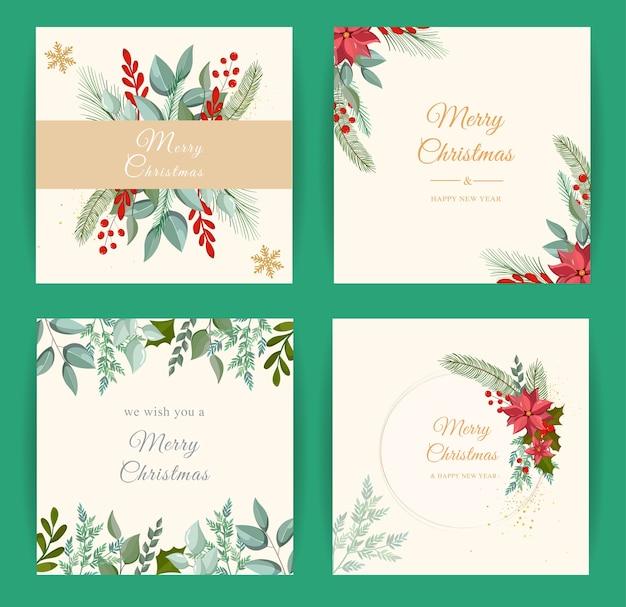 Schöner froher weihnachtsgrußkartenhintergrund
