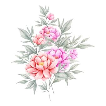 Schöner frühlingsblumenstrauß