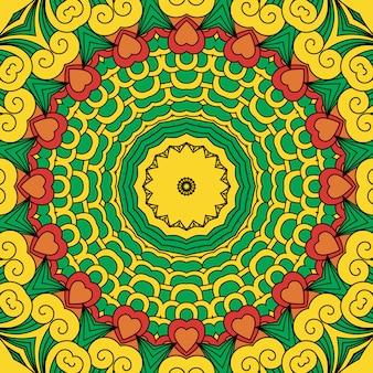 Schöner gelber geometrischer entwurf des vollen rahmens