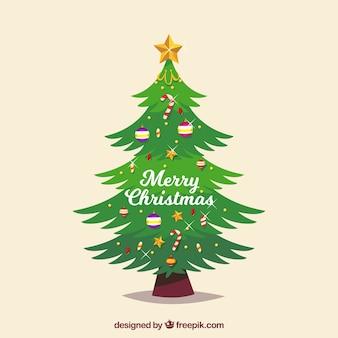 Schöner geschmückter weihnachtsbaum