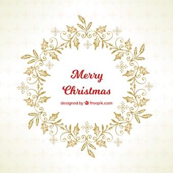 Schöner glänzender dekorativer weihnachtskranz