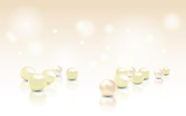 Schöner glänzender schmuckhintergrund mit rosafarbenen perlen