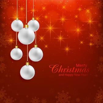Schöner glänzender weihnachtsballhintergrund