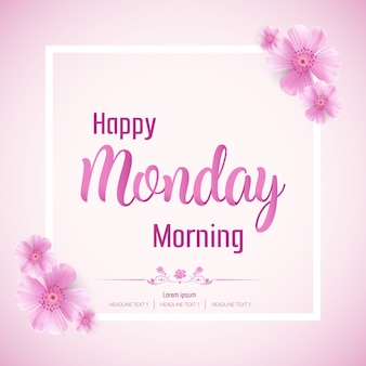 Schöner glücklicher montag morgen