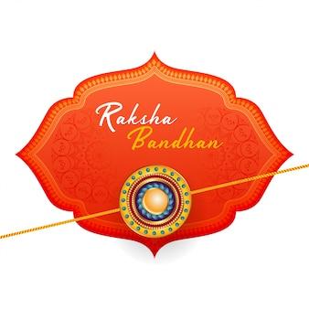 Schöner glücklicher raksha bandhan hintergrund