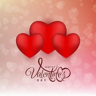 Schöner glücklicher valentinstaghintergrund