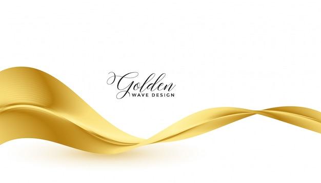 Schöner goldener fließender wellenluxushintergrund