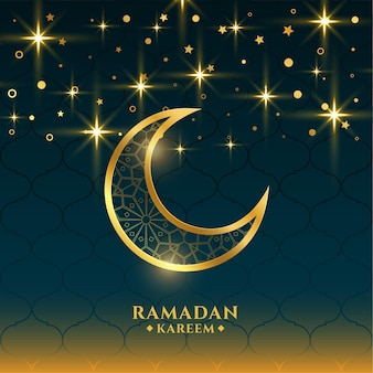 Schöner grußkartenentwurf der heiligen jahreszeit ramadan kareem