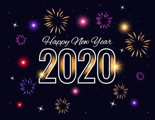 Schöner guten rutsch ins neue jahr-hintergrund 2020