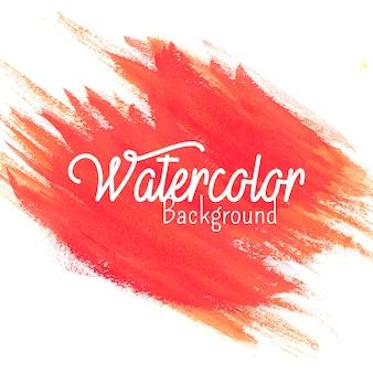 Schöner hand gezeichneter korallenroter aquarellhintergrund mit trockenen bürstenanschlägen