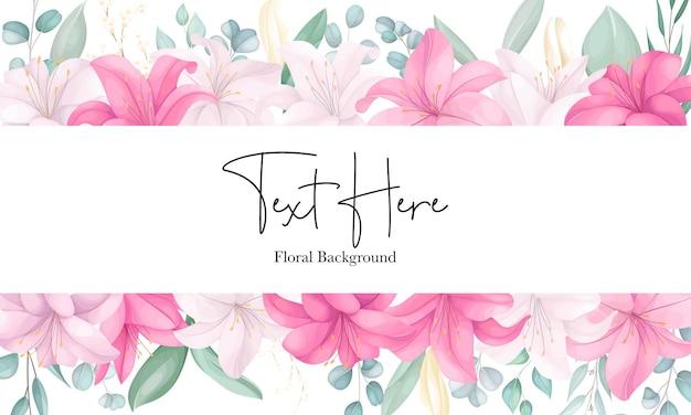 Schöner handgezeichneter lilienblumenhintergrund