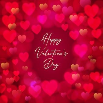 Schöner herzrahmen für valentinstag