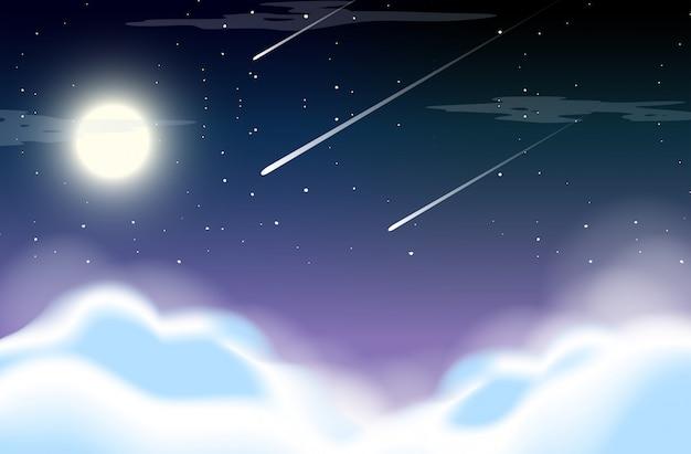Schöner himmel bei nacht