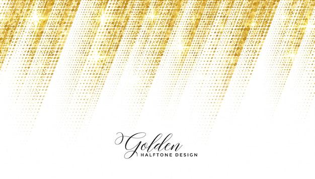 Schöner hintergrund des abstrakten goldenen halbtonstils