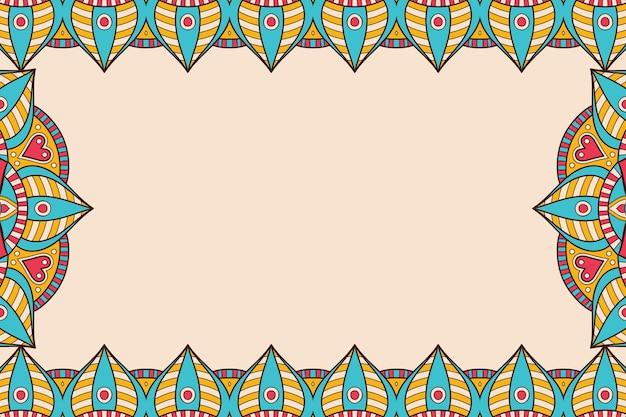 Schöner hintergrund des geometrischen kreiselements der verzierung