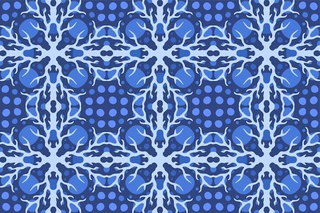 Schöner hintergrund mit abstraktem blauem nahtlosem muster mit blitz