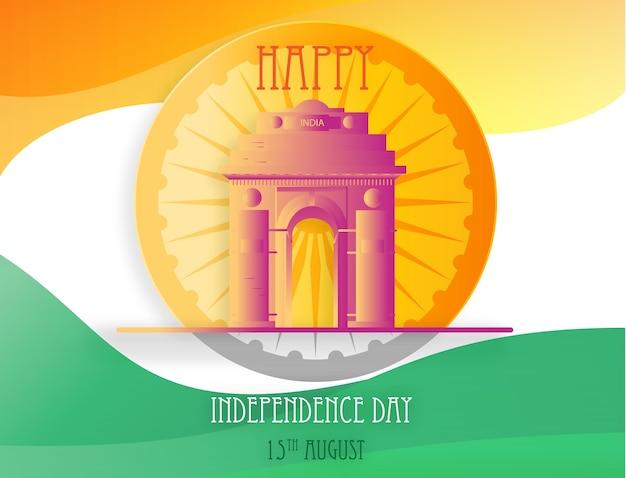Schöner hintergrund von indien-unabhängigkeitstag