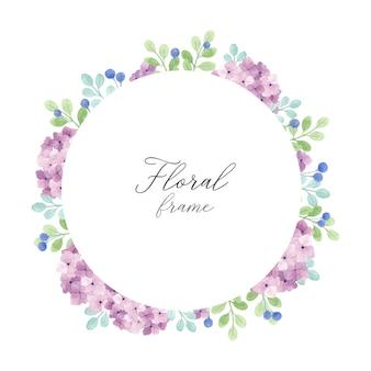 Schöner hortensie-blumenrahmen