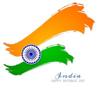 Schöner indischer flaggenthema-vektorhintergrund
