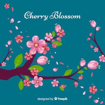 Schöner kirschblütenbaumhintergrund