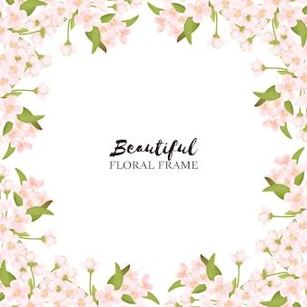 Schöner kirschblütenblumenrahmen