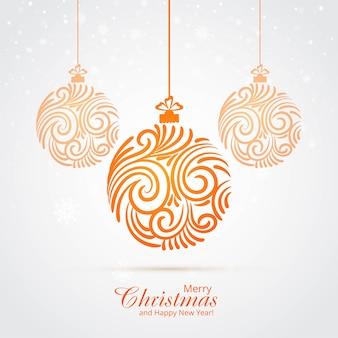 Schöner künstlerischer weihnachtsballhintergrund