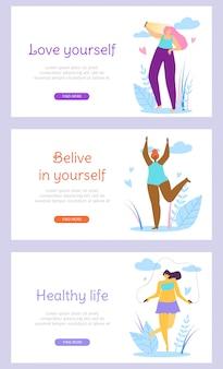 Schöner mädchencharakter-gesunder aktiver lebensstil