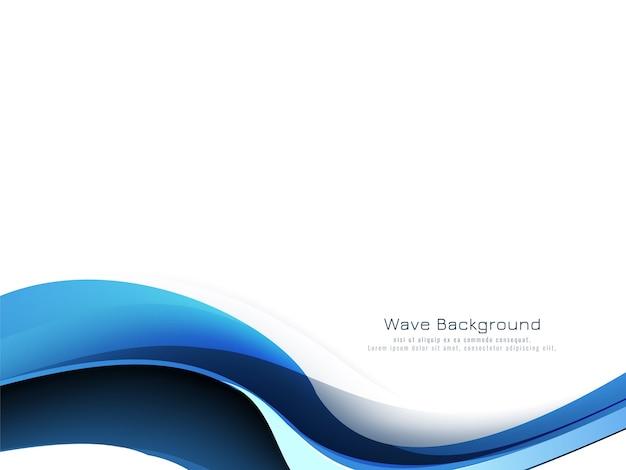 Schöner moderner dekorativer hintergrundvektor der blauen welle