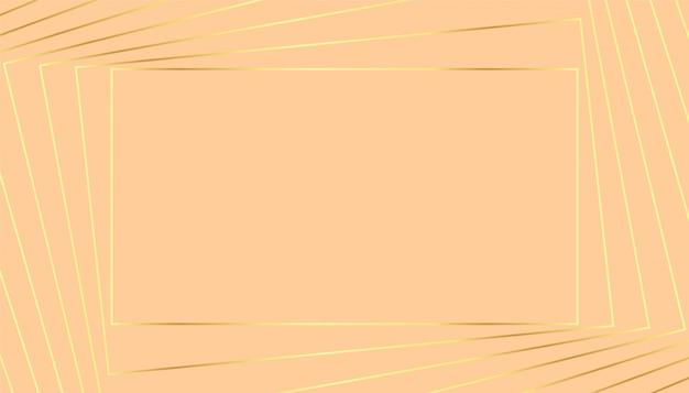 Schöner pastellhintergrund mit goldenen geometrischen linien