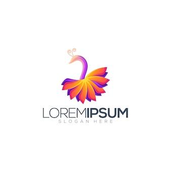 Schöner pfau premium logo design