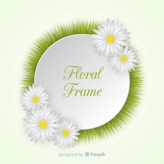 Schöner rahmen im floralen stil