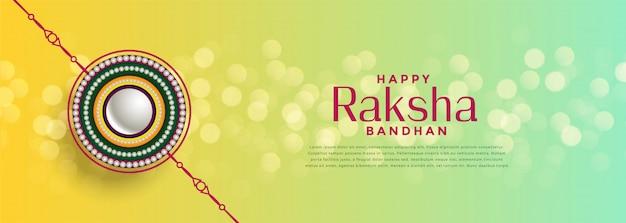 Schöner raksha bandhan bokeh festivalhintergrund