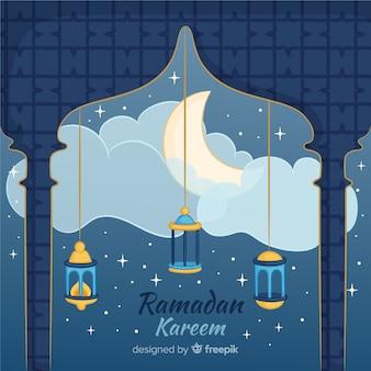 Schöner ramadan-hintergrund